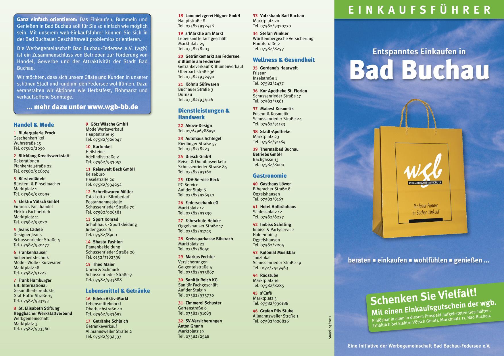 WGB Einkaufsführer Seite 1